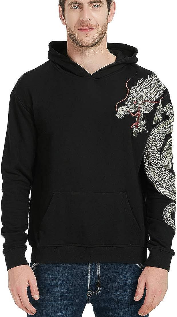 Chaos World Sudadera Unisex Bordados con Capucha Bordadas Impresión Men's Sweatshirt Jersey de algodón Causal