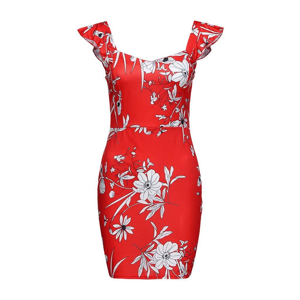 dreamering Dress Women Summer Sleeveless Printed Elastic Waist Casual Beach Party Mini Zomerjurk Dames Bodycon