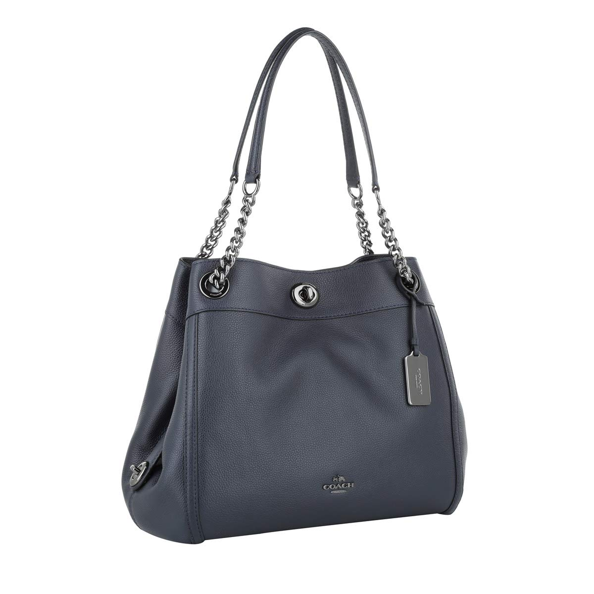 37018bf42 COACH Turnlock Edie Shoulder Bag in Pebble Leather: Amazon.co.uk: Shoes &  Bags