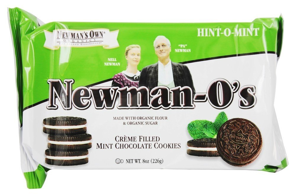 Newman's Own Organics - Newman-O's Creme Filled Chocolate Cookies Hint-O-Mint - 8 oz.(pack of 2) by Newman's Own