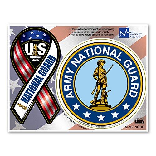 National Guard Mini Ribbon/Circle Combo Magnet