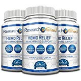 Research Verified Hemo Relief - #1 Hemorrhoid Relief on the market - The best solution. Provides a Relief & Repair for immediate relief and long-term healing - 100% Money Back! - 3 Bottles Supply