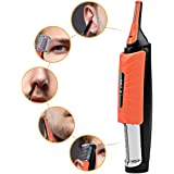 Ckeyin ® Multifonctionnelle Portable Micro Tondeuse Rasoir LED pour visage, oreille, sourcil pour Hommes et Femmes + 2 tailles peignes (2mm / 4mm, 6mm, 1.5cm, 2.0cm)(Coloris aléatoire)