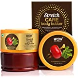 WOW Skin Science Stretch Care Body Butter powered with Lavender Essential Oil, Rosehip Oil - For All Skin Types - No Parabens, Silicones, Mineral Oil & Color - 200mL