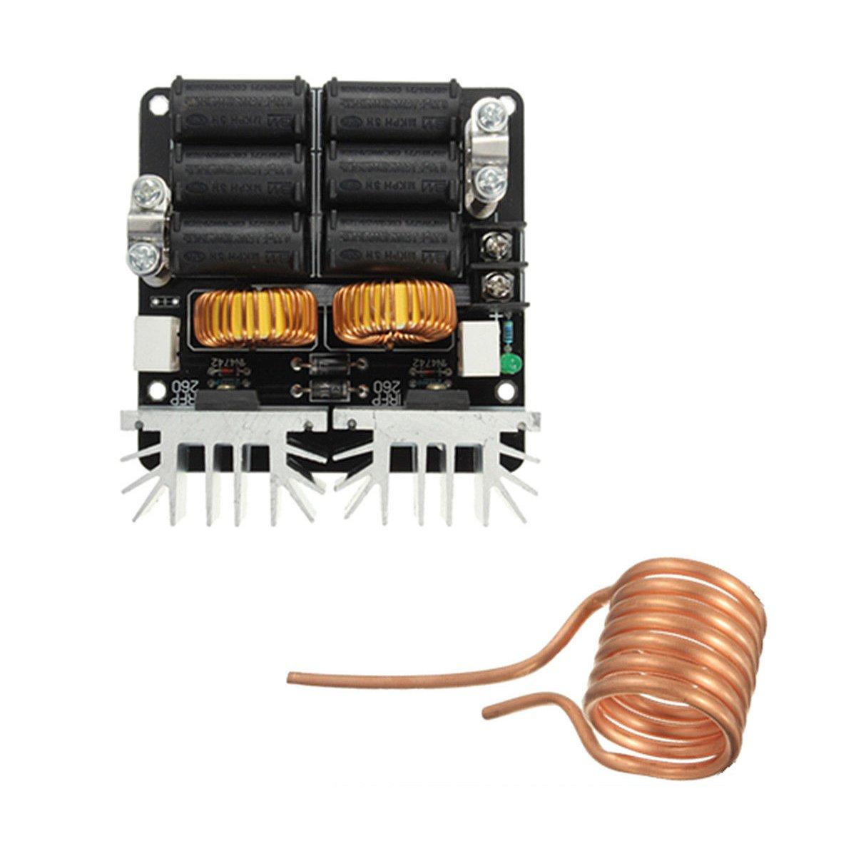 Calentador - SODIAL(R)20A 1000W ZVS calentador de conductor de baja tension de calentamiento por induccion modulo del tablero del tiempo de retorno: ...