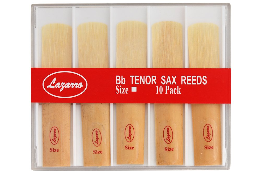 Lazarro TR-L-1.5 Tenor Saxophone Sax Reeds Size 1.5, Strength 1 1/2, Box of 10 - All Sizes Available