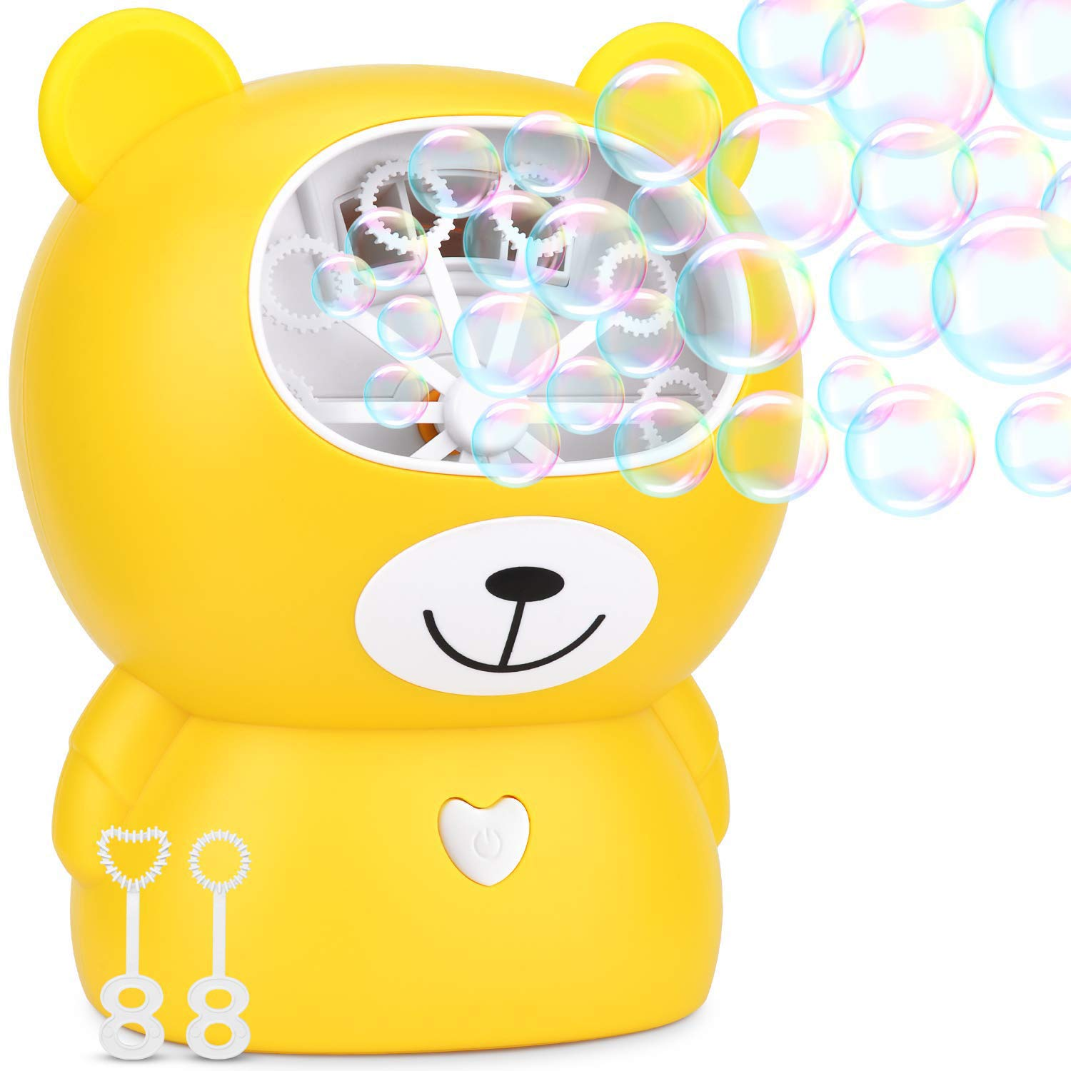 JUN GUANG Electric Bubble Toy Bubble Blower Machine for Kids Bubble Blower More Than 800 Bubbles Per Minute Wedding Bubble Machine, Battery Operated