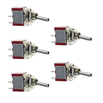 5 X On//Off// On Mini Miniatur Kippschalter Schalter Modelleisenbahn Spdt