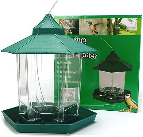 Panorama Bird Feeder Premium Plástico Duro ABS Wild Bird Jardín Colgante Semilla Alimentar Tuerca A Prueba de Ardillas Bird House: Amazon.es: Deportes y aire libre
