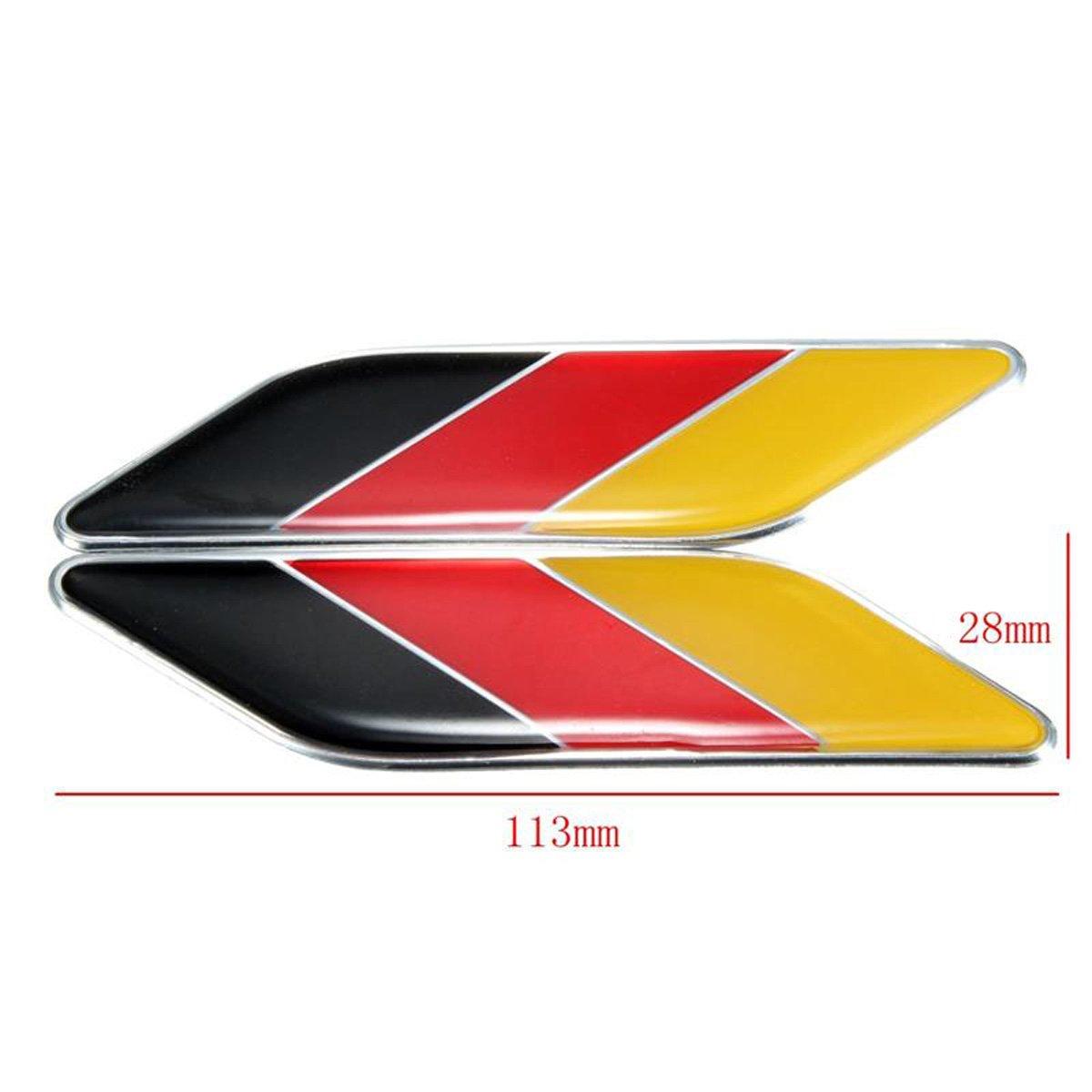 Dsycar 2 pcs//Paire 3d en m/étal Drapeau de lAllemagne Embl/ème badge Coupe Allemagne de voiture du corps