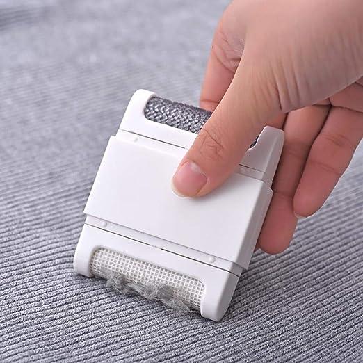 Womdee afeitadora de Tela portátil – Mini práctico removedor de Pelusa afeitadora de Tela, Red de Doble