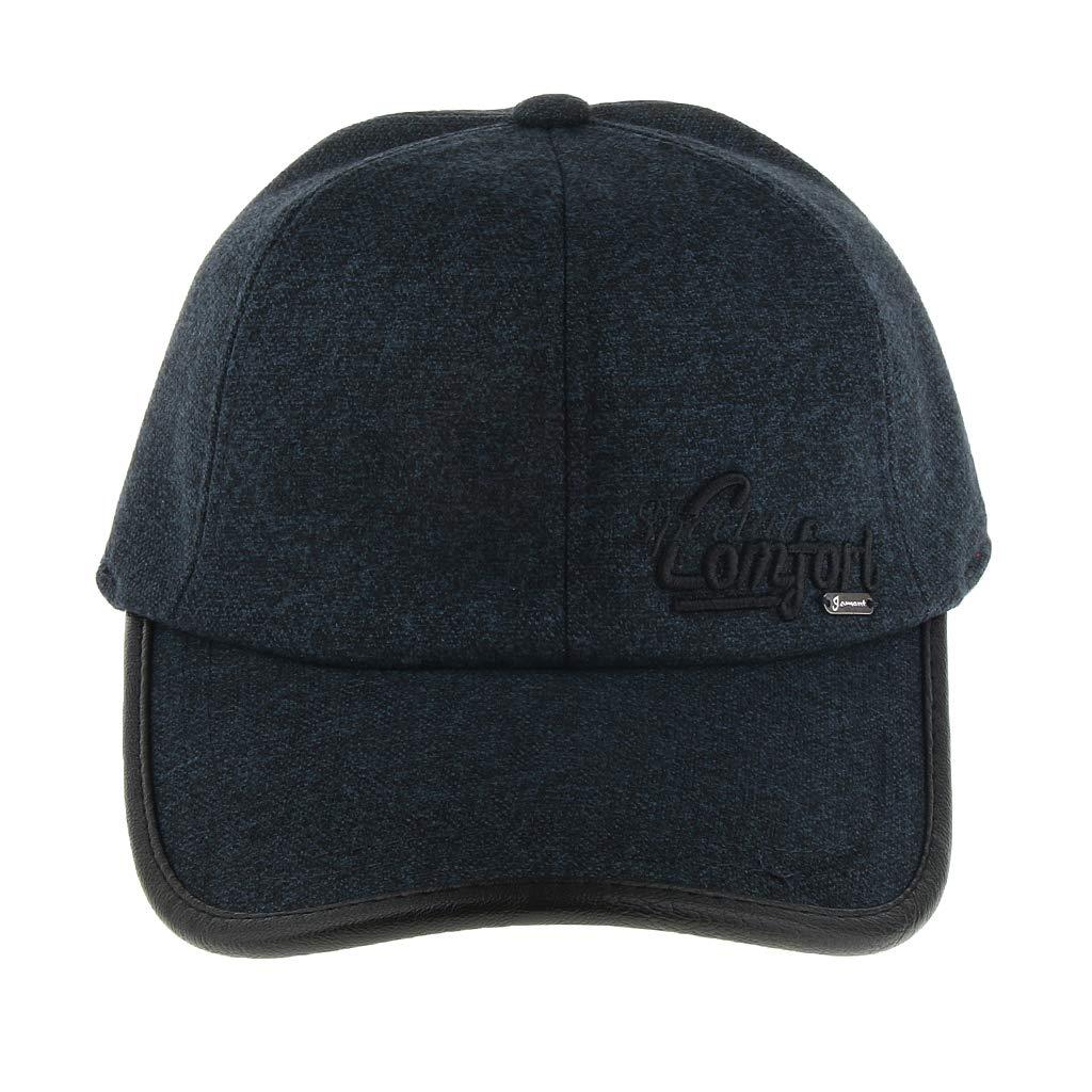 995eef876a0 Prettyia Winter Wool Baseball Cap Earflap Fitted Hats Men Skiing ...