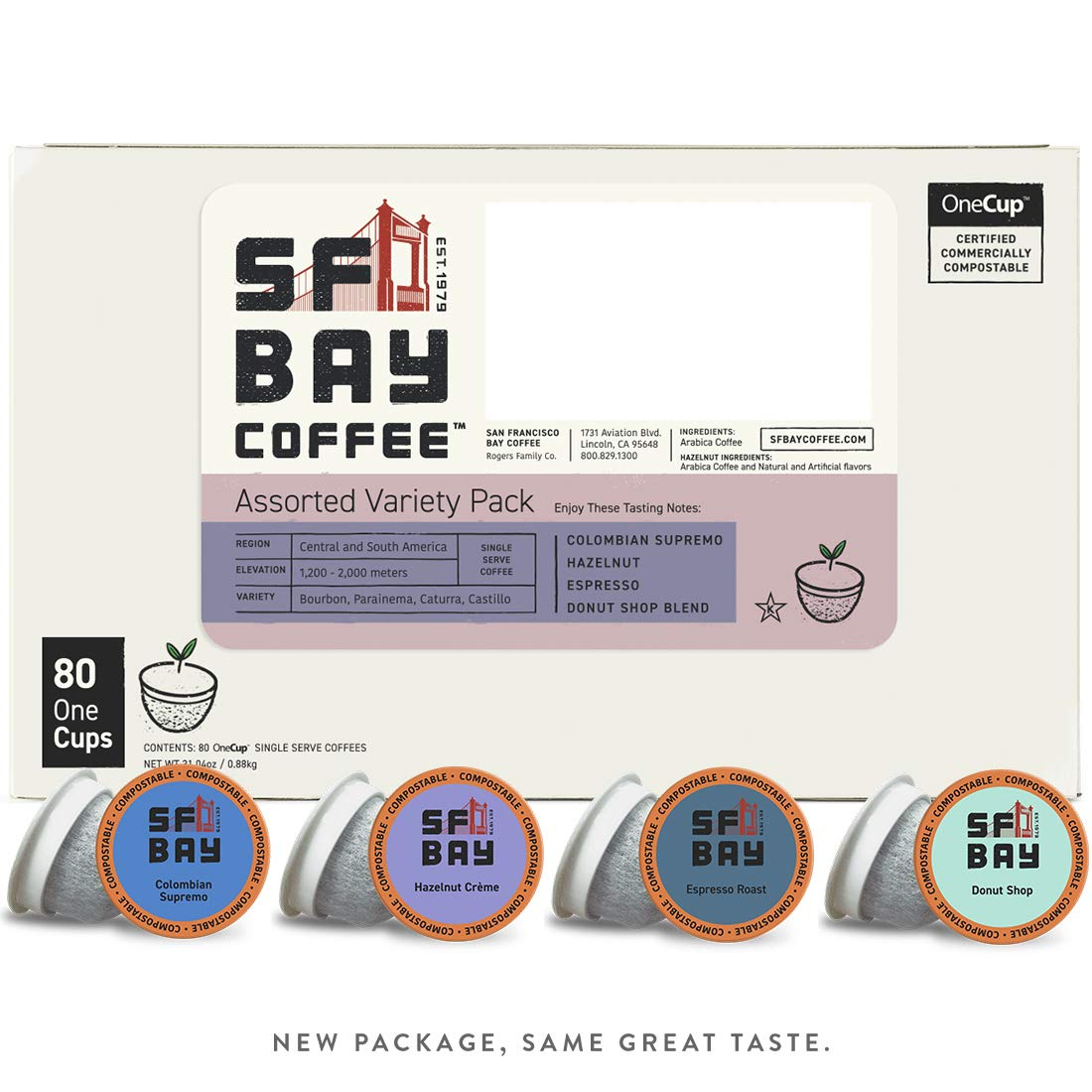 San Francisco Bay OneCup, Single Serve Coffee K-Cup Pods, Assorted Variety Pack, (80 Count), Keurig Compatible