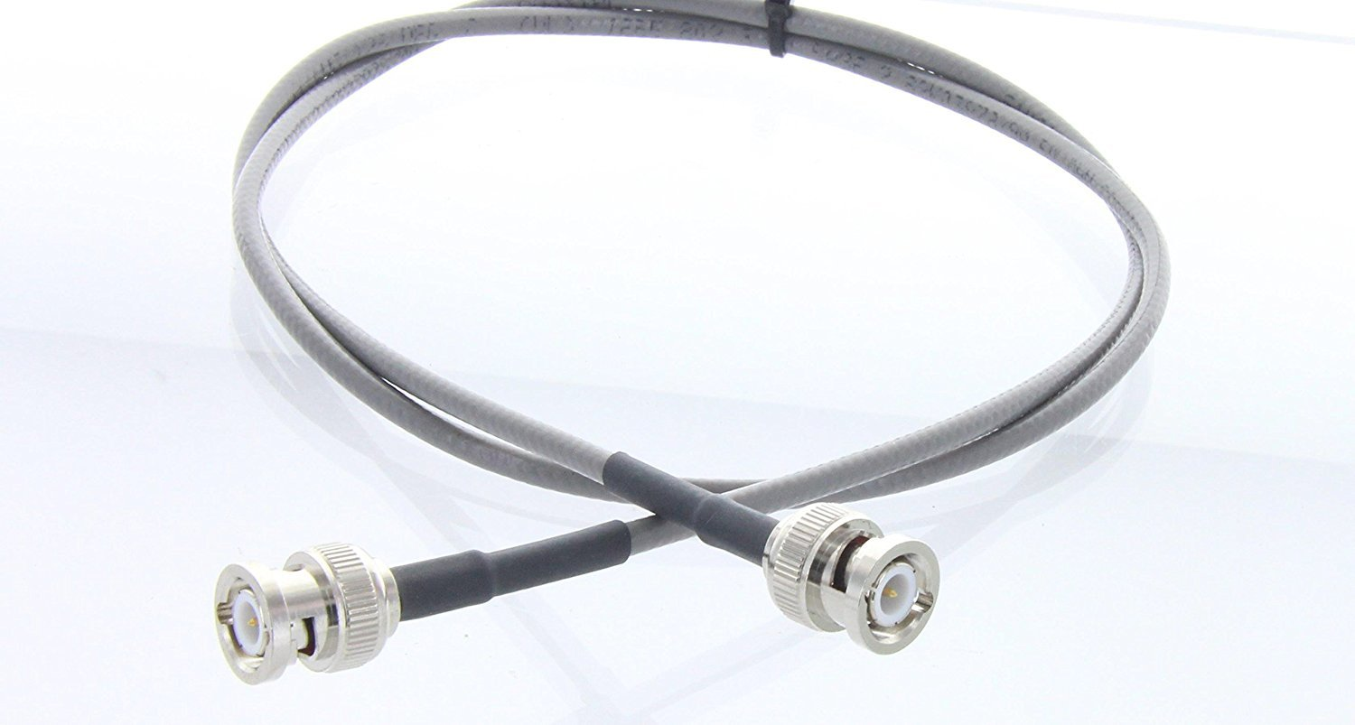 RG58 IEEE 802.3 THINNET BNC male to BNC Male RF coaxial Antenna cable 1 FT (Gray) | RG-58 Thinnet Jumper Made in the U.S.A. by MPD Digital (TM) 1 Foot: ...