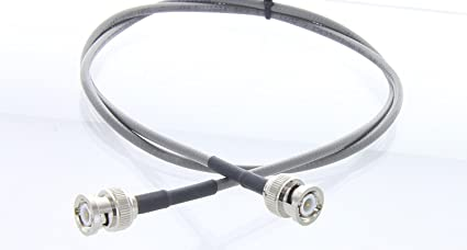 RG58 IEEE 802.3 THINNET BNC male to BNC Male RF coaxial Antenna cable 3 FT (