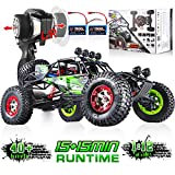 Soyee 1:12 Scale Remote Control Car 40km/h RTR Electric Monster RC Truck 2.4GHz Radio Controlled 4WD All Terrain Off-Road Waterproof Hobby Grade RC Cars Toys for Kids and Adults - Batteries x2