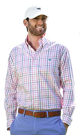 Davidson Washed Check Dress Shirt Men/'s Southern Marsh
