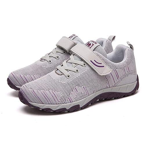 Zapatillas de Deporte Ligeras de Tenis para Caminar Zapatillas de Deporte con Cordones Botines Zapatillas para Correr: Amazon.es: Zapatos y complementos