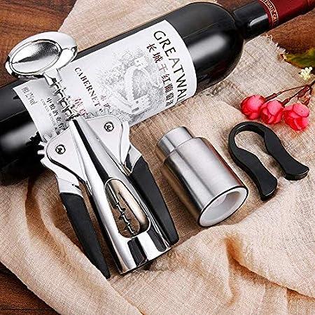 Sacacorchos Abrelatas de Vino Botella manija Abridores abridor Sacacorchos Sacacorchos del metal del acero inoxidable de la botella de vino del sacacorchos sacacorchos sacacorchos con alas salsa de vi