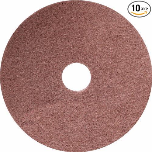 Tan 10-Pack United Abrasives-SAIT 86152 15-Inch Thin Nylon Floor Pad