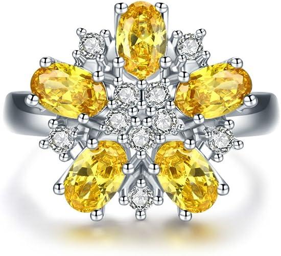 Fashion Womens Ladies Shiny Crystal Rhinestone Ring Wedding Floral Zircon Rings