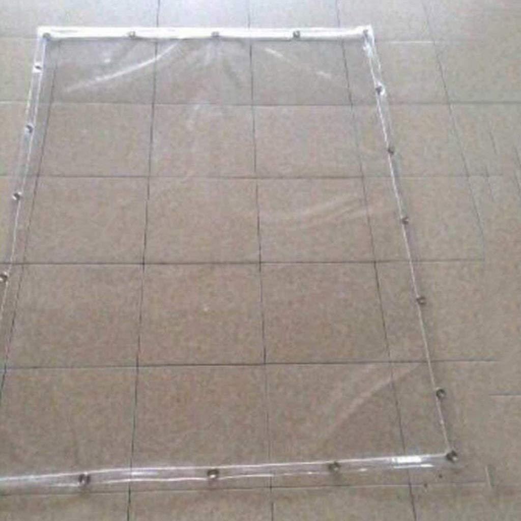 XY&CF-tarpaulin Telo di plastica Trasparente telone telone da Balcone Parabrezza Antipioggia in PVC Trasparente in plastica Morbida, Varie Dimensioni 400G / M² (Dimensioni : 1.1 * 2m) Varie Dimensioni 400G / M² (Dimensioni : 1.1 * 2m)