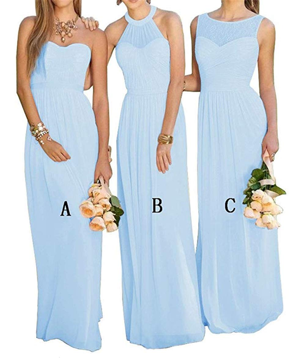 e84856055a683 Hatail Chiffon Bridesmaid Dresses Long for Women Formal A-line Evening Party  Prom Gowns