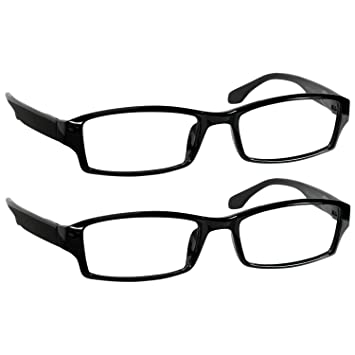 3f9c81a48e9 Reading Glasses 6.0 Black (2 Pack) Reader Glasses for Men and Women Have a