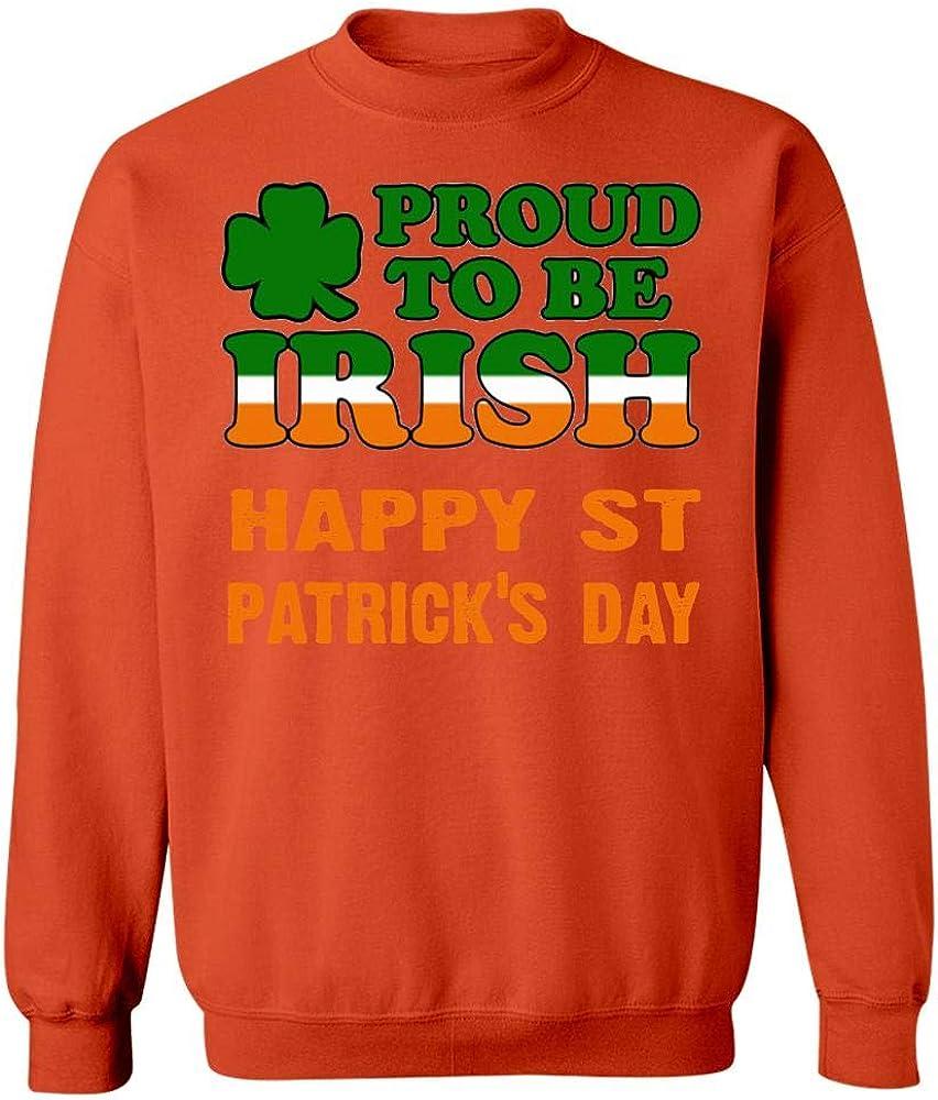 Im Proud to be Irish Happy St Patties Days Sweatshirt Orange