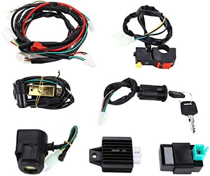 Wiring Harness Loom For Chinese Electric Start Quads ATV 50 70 90cc 110cc 125cc