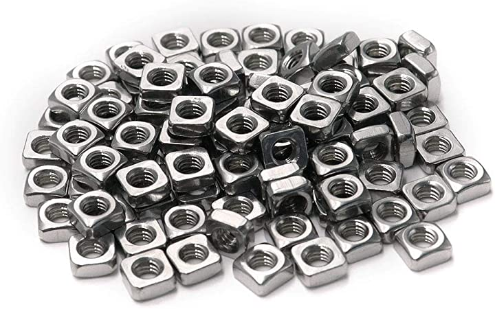 100X M3x5.4x1.8mm A2 STAINLESS STEEL SQUARE THIN  NUTS  DIN 562