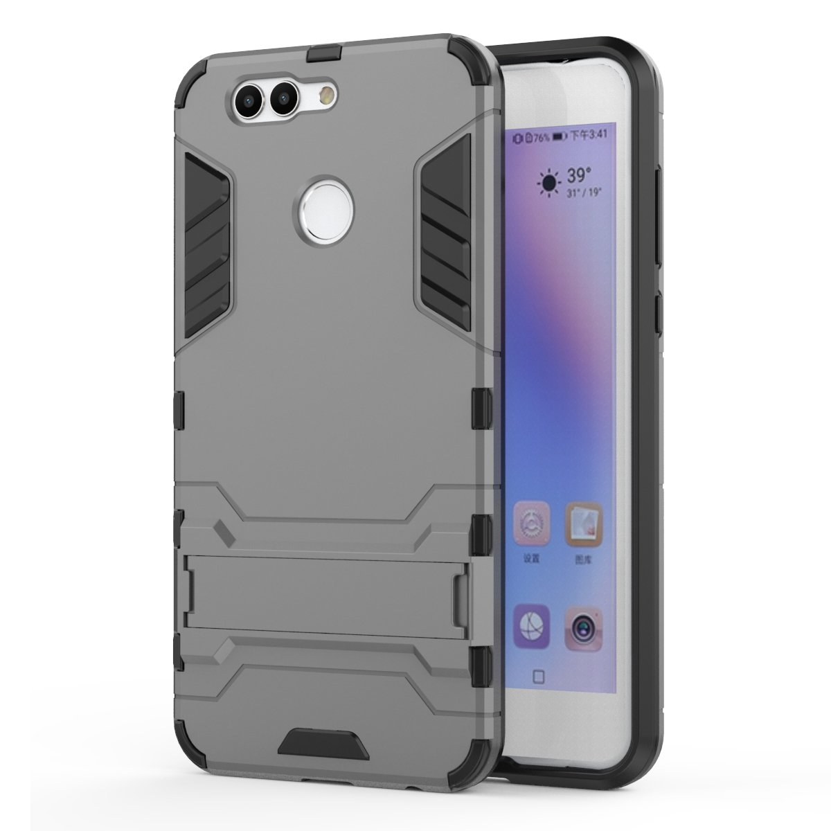 Huawei P10 Selfie Case, Huawei P10 Selfie Hybrid Case, Dual Layer Shockproof Hybrid Rugged Case Hard Shell Cover with Kickstand for 5.5 Huawei P10 ...