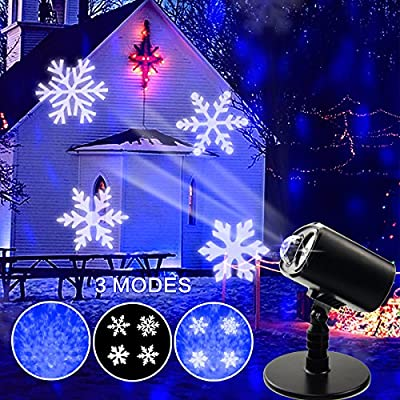 Luz de proyector LED de Navidad, paisaje al aire libre a prueba de ...