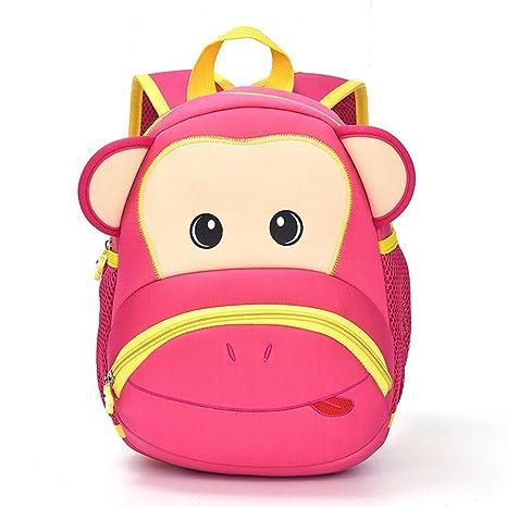 fuluoyin Baby Mochila dibujos animados mono Mochila Chica Joven Guardería Mochila Escolar Bolsa de viaje 3