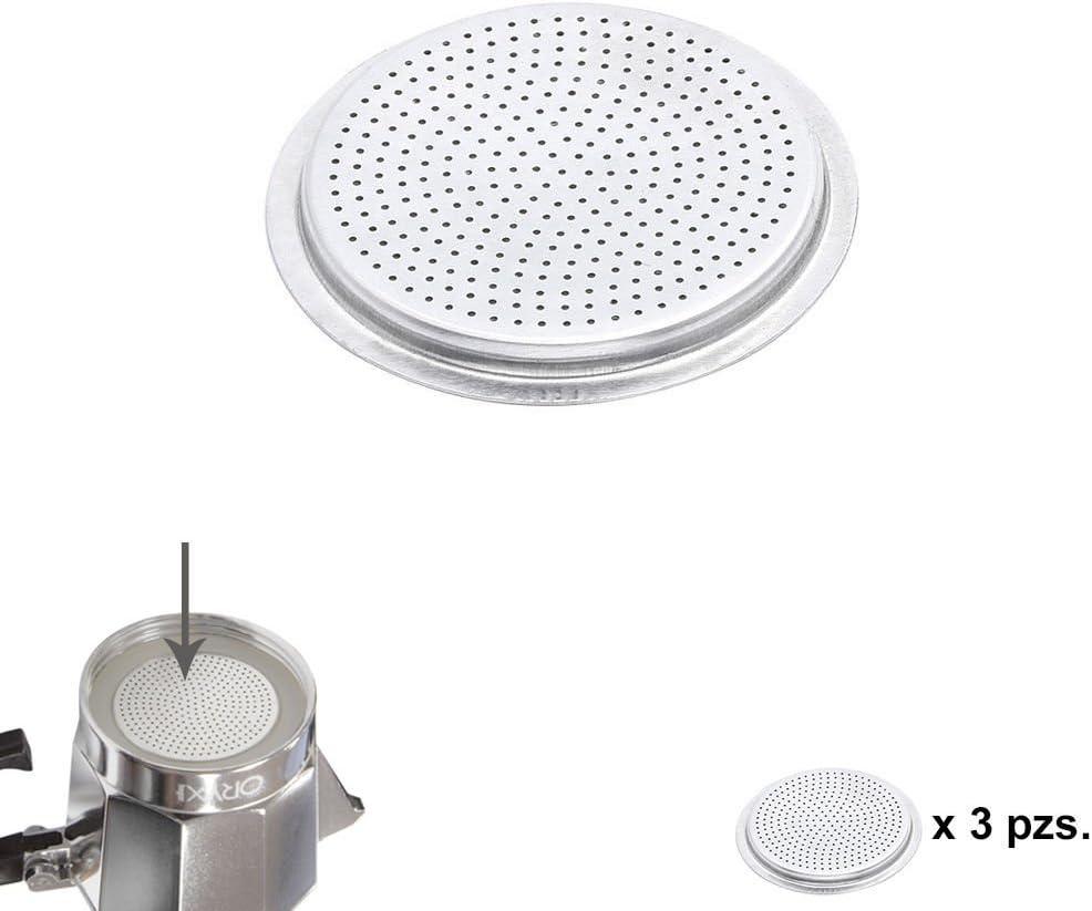 ORYX Filtro Cafetera Inducción 12 Tazas, Aluminio, Plateado, 9x9x3 ...
