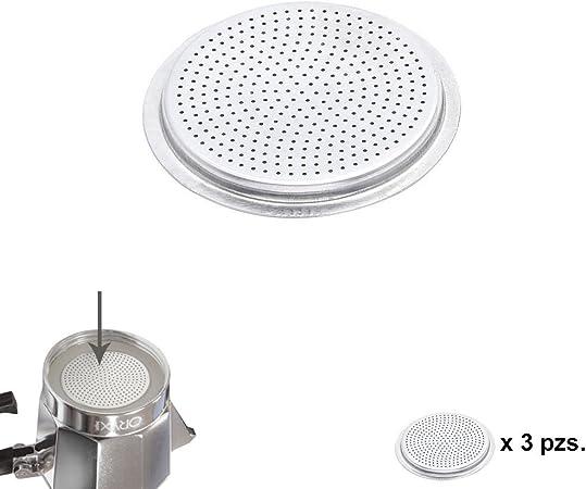 ORYX Filtro Cafetera Inducción 6 Tazas, Aluminio, Plateado, 9x9x3 ...