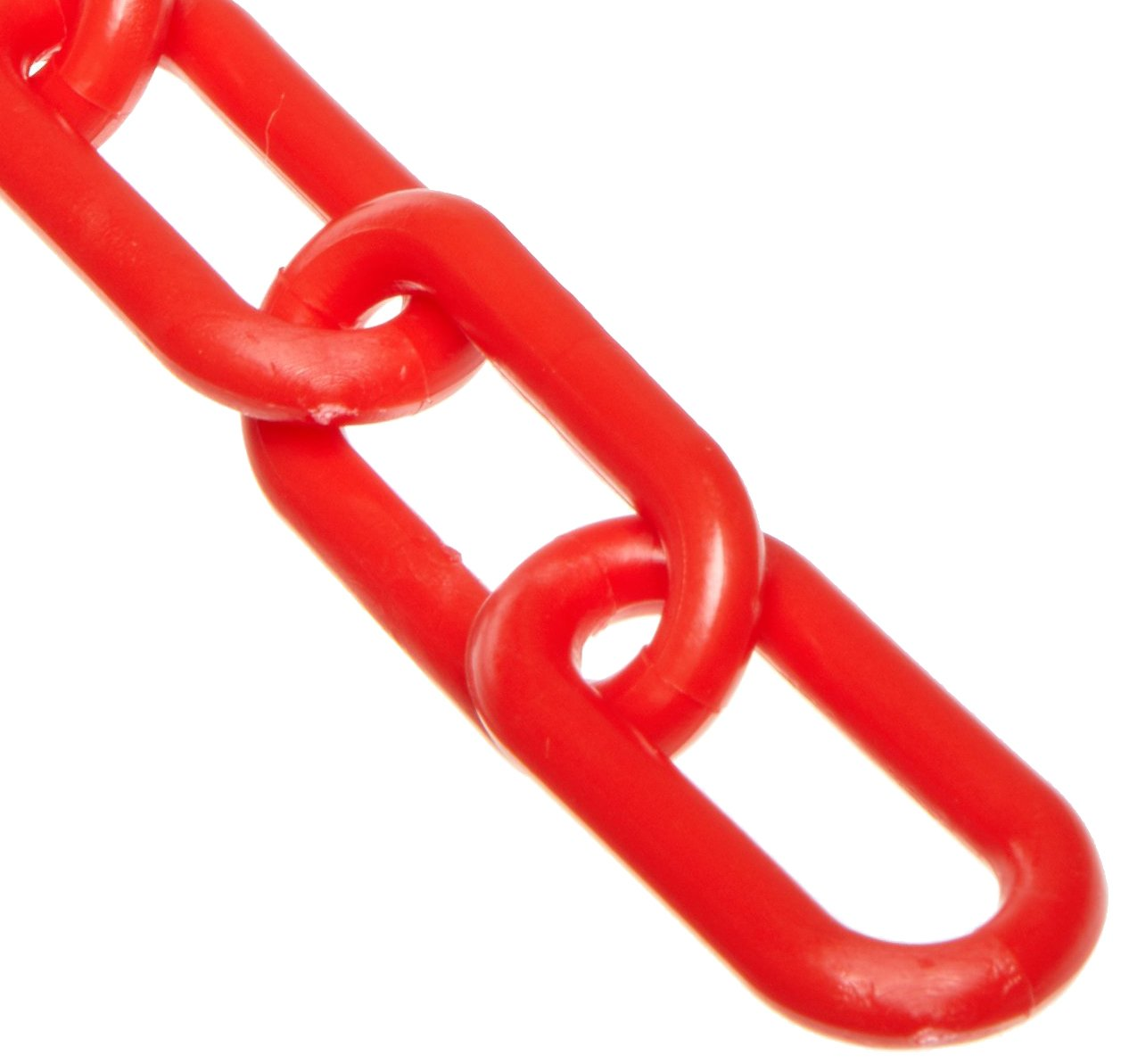 Mr. Chain Plastic Barrier Chain, 1.5'' Diameter, 100' Length, Red