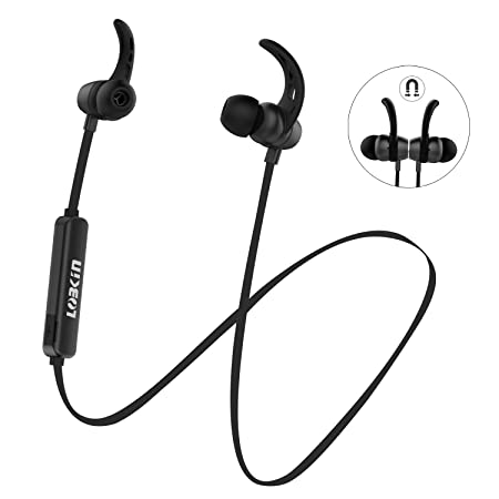 Dunkel schwarz Lobkin Bluetooth Kopfh/örer Sport Stereo Headset mit Mikrofon Bluetooth Kopfh/örer in Ear Ger/äuschunterdr/ückung Nackenb/ügel IPX5 Schwei/ßbest/ändig Kopfh/örer