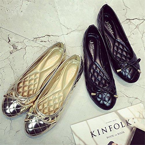 Femmes Classique Mode Décontractée Pliable Confortable Ballerines Bout Pointu Robe Appartements Chaussures S-19