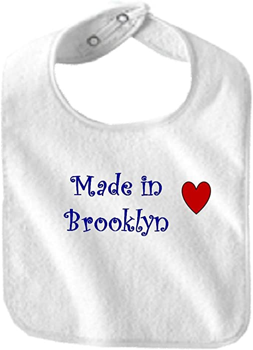 14c3e857 Amazon.com: MADE IN BROOKLYN - City Series - White Bib: Clothing