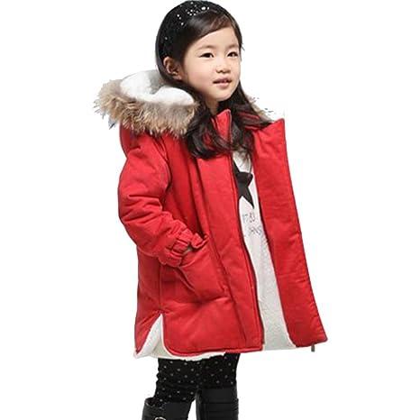 Moin Abrigo de invierno para niñas chaqueta de pluma de invierno de la capa moda caliente