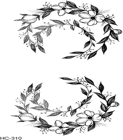 Adgkitb 5pcs Populaire Ballet Noir Blanc Fleurs Tatouage
