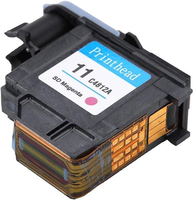 MAGT Cabezal de impresión, Colores Naturales Cabezal de impresión Impresión Suave Sin Atascos de Papel Cabezal de impresión para HP 500 510 Serie 800(C4812A): Amazon.es: Electrónica