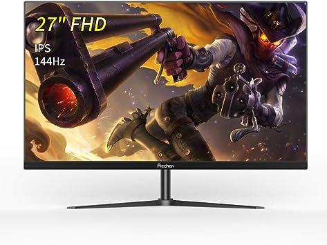 Prechen Monitor Gaming 27 Pulgadas,Full HD 1920x1080 Pixeles,IPS,144 Hz,Puerto VGA/HDMI,Brillo Inteligente/Menos luz Azul/Marco Ultrafino,Negro: Amazon.es: Electrónica