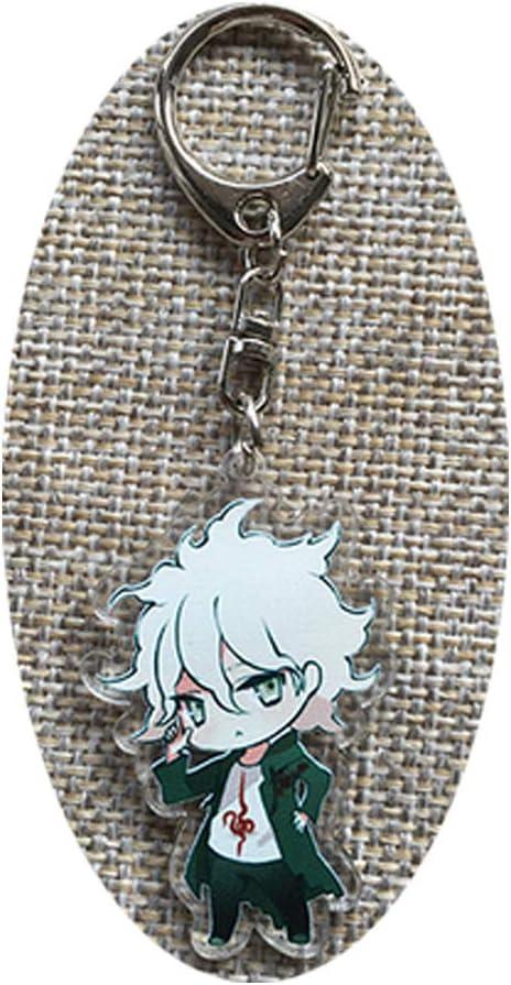 Danganronpa Dangan Ronpa Keychain Komaeda Nagito Naegi Makoto Key ring 2 sides