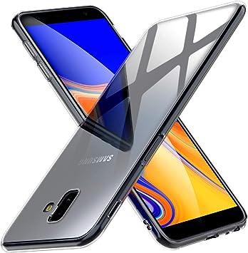 Peakally Funda Samsung Galaxy J6 Plus, Transparente Silicona Funda para Samsung Galaxy J6+ Carcasa Flexible Claro Ligero TPU Fundas [Antideslizante] [Resistente a arañazos] -Transparente: Amazon.es: Electrónica