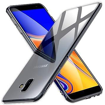 Peakally Funda Samsung Galaxy J6 Plus, Transparente Silicona Funda para Samsung Galaxy J6+ Carcasa Flexible Claro Ligero TPU Fundas [Antideslizante] ...