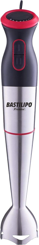 Bastilipo Turbomix-700-R Batidora de brazo TURBOMIX-700-V con 700W de potencia y control de velocidad variable, Rojo