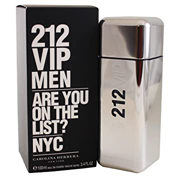 59e63a8b4 Amazon.com : 212 Vip by Carolina Herrera Eau De Toilette Spray for Men, 3.4  Ounce : Perfume For Men : Beauty