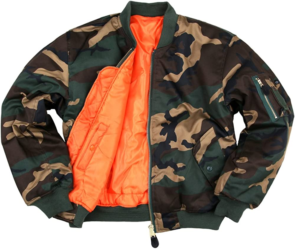Fostex Garments, Bomber MA-1 Militare Originale Woodland BA7jf